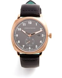 Larsson & Jennings - Mk I Pilot Stainless Steel And Leather Watch - Lyst