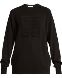 ce58b53fd7bd Givenchy - Logo Stitched Cashmere Jumper - Lyst