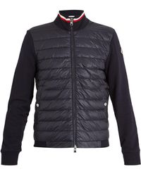 Moncler - Contrast Panel Quilted Down Cotton Jacket - Lyst