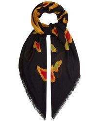 Valentino - Dragon-print Modal And Cashmere-blend Scarf - Lyst