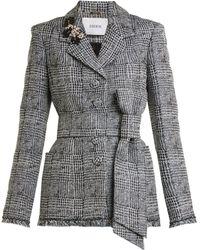 Erdem - Jacey Crystal-embellished Checked Jacket - Lyst