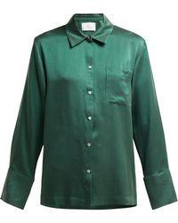 Asceno - Sandwashed Silk Pyjama Top - Lyst
