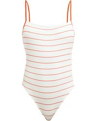 b594d25919d5 Solid   Striped The Chelsea Stripe Rib One Piece Swimsuit in Yellow ...