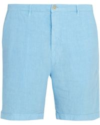120% Lino - Slim Fit Linen Shorts - Lyst