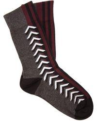 Burberry - Graphic Intarsia Cotton Blend Socks - Lyst