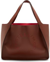 Stella McCartney - Perforated-logo Faux-leather Tote - Lyst