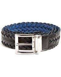 Prada - Reversible Braided-leather Belt - Lyst
