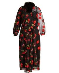 Simone Rocha - Asymmetric Floral-embroidered Tulle Dress - Lyst