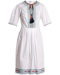 Talitha - Anita Embroidered Cotton Dress - Lyst