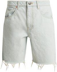 Raey - Cut Off Denim Shorts - Lyst