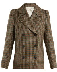 MASSCOB - Double-breasted Wool Blazer - Lyst