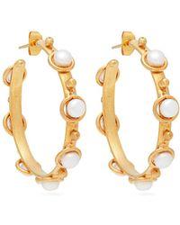 Sylvia Toledano - Petite Candy Pearl Embellished Hoop Earrings - Lyst