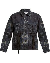 Proenza Schouler - Tie Dye Panelled Denim Jacket - Lyst