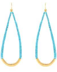 Aurelie Bidermann - Turquoise And Gold-plated Drop Earrings - Lyst