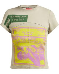 Eckhaus Latta - X Come Tees Lapped Baby Printed Cotton T Shirt - Lyst
