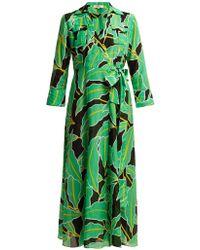 Diane von Furstenberg - Floral-print Voile Maxi Wrap Dress - Lyst