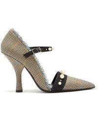 Erdem - Mya Houndstooth Check Court Shoes - Lyst