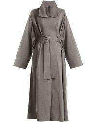 Norma Kamali - Notch-lapel Cotton-blend Jersey Coat - Lyst