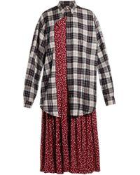 Balenciaga - Robe-chemise superposée en coton - Lyst