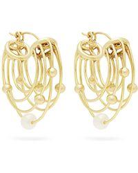 Ellery - Classical Scaffolding Hoop Earrings - Lyst
