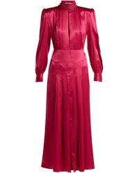 Alessandra Rich - High Neck Silk-satin Dress - Lyst
