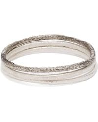 Pearls Before Swine - Oxidised Sterling Silver Cuff Set - Lyst