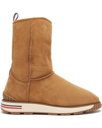 Moncler - Gaby Shearling Lined Boot - Lyst
