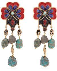 Etro - Flower Bead Earrings - Lyst