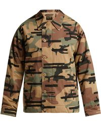 Maharishi - Camouflage Print Cotton Blend Jacket - Lyst
