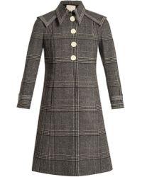 Marco De Vincenzo - Checked Wool Coat - Lyst