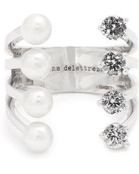 Delfina Delettrez - Diamond, Pearl & White-gold Ring - Lyst