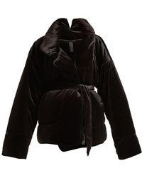 Norma Kamali - Sleeping Bag Quilted-velvet Coat - Lyst
