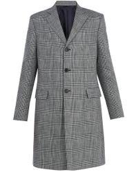 Acne | Mavin Prince Of Wales-checked Linen-blend Coat | Lyst