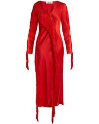 Diane von Furstenberg - V Neck Fringed Dress - Lyst