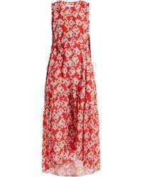 Borgo De Nor - Zelda Bouquet-print Crepe Dress - Lyst