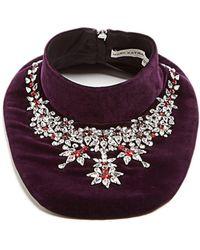 Mary Katrantzou - Crystal-embellished Velvet Bib Necklace - Lyst