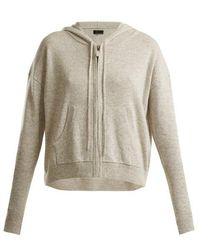Nili Lotan - Zip-through Hooded Cashmere Jumper - Lyst
