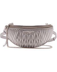 Miu Miu - Matelassé Quilted Leather Belt Bag - Lyst