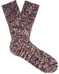 Undercover - Melange-knit Cotton-blend Socks - Lyst