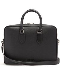 Alexander McQueen - Logo-print Grained-leather Briefcase - Lyst