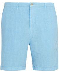 120% Lino - Slim-fit Linen Shorts - Lyst