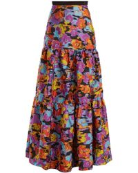 Mary Katrantzou - Bridge Floral Fil-coupé Skirt - Lyst