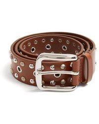 Isabel Marant - - Rica Stud Embellished Leather Belt - Womens - Brown - Lyst