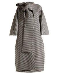 Balenciaga - Houndstooth Tie-neck Coat - Lyst