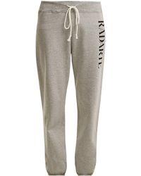 Rodarte - Logo-print Cotton-blend Track Trousers - Lyst
