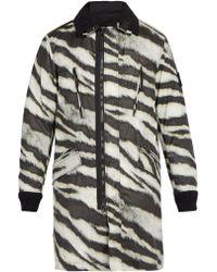 Stone Island - Tiger-print Detachable-fleece Technical Jacket - Lyst