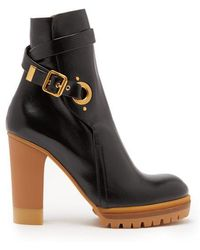 Chloé - Trek Buckled Leather Ankle Boots - Lyst