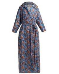 Vetements - - Floral Print Hooded Raincoat - Womens - Blue Multi - Lyst