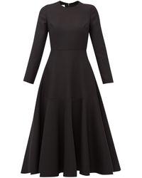 Valentino Wool Blend Midi Dress - Black