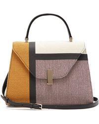 Valextra - Iside Medium Colour-block Bag - Lyst